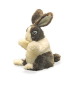 Plush Baby Dutch Rabbit Puppet 20cm by Folkmanis - 2571FM