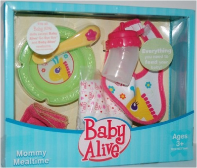 Baby Alive Doll Mommy Mealtime Feeding Set By Baby Alive