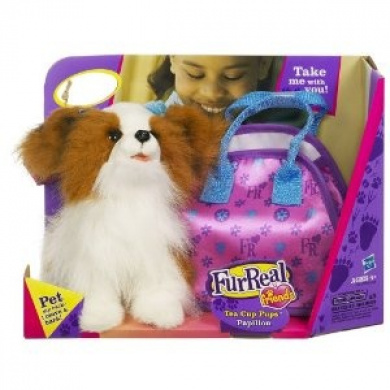 Furreal friends teacup pets papillon puppy with bag by furreal shop online for toys in new zealand - Petshop papillon ...