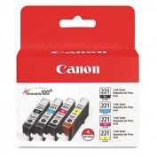2946B004 (CLI-221) Ink, 4/Pack, Tri-Color