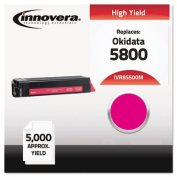 Innovera 85500M Compatible, Remanufactured, 43324402 (5500) Toner, 5000 Yield, Magenta
