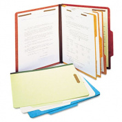 "Std 3"" Expansion Classification Folder, Letter, Eight-Section, Blue, 10/Box"