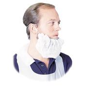 Disposable Beard Net, Spun-Bonded Polypropylene, White, 100/Pack
