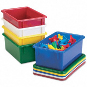Cubbie Trays, 8-5/8w x 13-1/2d x 5-1/4h, Red
