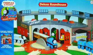 Wooden Railway Deluxe Roundhouse By Thomas The Train