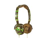 Skullcandy Lowrider Brown Stripe Headphones