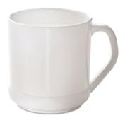 Reusable Mug, Squat, 9oz, White