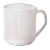 Reusable Mug, Squat Wide, 10oz, White