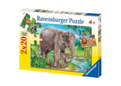 Lions & Elephants Puzzle - 2 x 20 pc