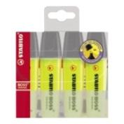 Stabilo 70/4 Boss Wallet/4 - Yellow