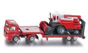 Low Loader with Combine Harvester