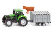 Tractor with stock trailer