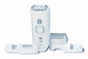 Braun Silk-epil 7 7681 - Wet & Dry Cordless epilator with 5 attachments including a Shaver Head and a Trimmer Cap