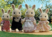 Sylvanian Families Buttermilk Rabbit Family