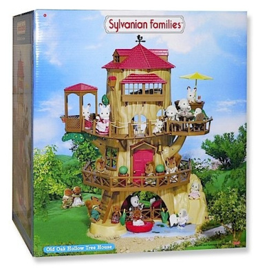 sylvanian families the old oak hollow treehouse furniture