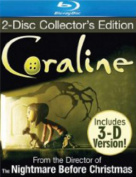 Coraline (2D/3D) (Plays any TV with 4xPlastic Glasses)  [Blu-ray]