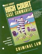 High Court Case Summaries on Criminal Law, Keyed to Johnson