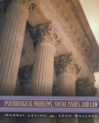 Psychological Problems, Social Issues and Law