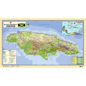 Macmillan Wall Map of Jamaica
