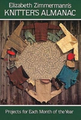 Knitter's Almanac: Projects for Each Month of the Year (Dover Knitting, Crochet, Tatting, Lace)