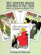 Art Nouveau Poster Postcards in Full Colour