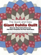 The Quick and Easy Giant Dahlia Quilt on the Sewing Machine