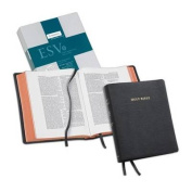 ESV Wide Margin Reference Bible, Black Edge-lined Goatskin Leather, Red Letter Text ES746:XME