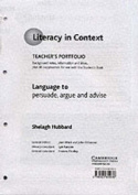 Language to Persuade, Argue and Advise Teacher's Portfolio