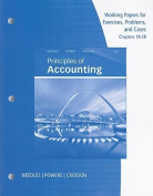 Principles of Accounting, Working Papers, Chapters 18-28