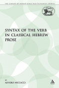 Syntax of the Verb in Classical Hebrew Prose