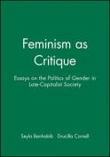 Feminism as Critique