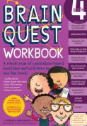 """Brain Quest Grade 4 Workbook [With Over 150 Stickers and Mini-Card Deck and Fold-Out """"7 Continents, 1 World"""" Poster]"""