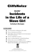 CliffsNotes Incidents in the Life of a Slave Girl