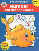 Number Puzzles and Games, Homework Helpers, Grades K-1 (Brighter Child