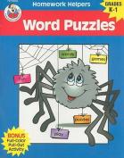 Word Puzzles, Homework Helpers, Grades K-1 (Brighter Child