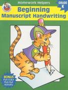 Beginning Manuscript Handwriting, Homework Helpers, Grade K (Brighter Child