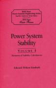 Power System Stability, Volumes I, II, III
