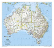 National Geographic Maps NGMRE00620146 Australia Wall Map 30 X 27