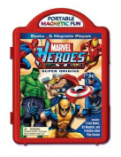 Marvel Heroes Super Origins Book & Magnetic Playset
