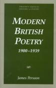 Modern British Poetry, 1900-1939
