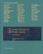 Annual Review Public Health W/Online Vol 29