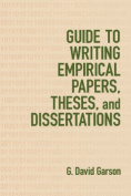 Guide to Writing Empirical Papers, Theses and Dissertations