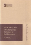 Social Theory and Education Policy
