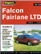 Ford Falcon Ea/Fairlane/Ltd/Ea/Na/DA/Eb/Nc/DC Series 1, 6 Cyl (1988-92)