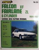 Falcon Xf Fairlane Zl 6 Cyl (1984-87), Utility & Van (1984-93)