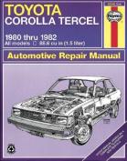 Toyota Corolla Tercel Owner's Workshop Manual