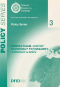 Agricultural Sector Investment Programmes