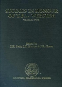 Studies in Honour of T.B.L.Webster