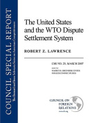 The United States and the WTO Dispute Settlement System