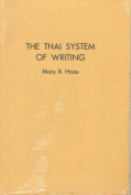 Thai System of Writing